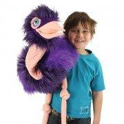 Marionnette Géante Autruche à bras avec bouche articulée