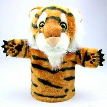 Marionnette tigre enfant à main, 25cm
