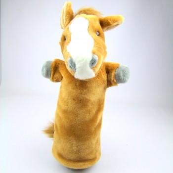 Marionnette à bras Cheval marron à longue manche