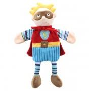 Grande marrionnette personnage  super hero masque marron45cm