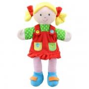Marionnette File et sa robe rouge 35cm