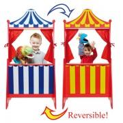Théâtre de marionnettes en bois 125 cm
