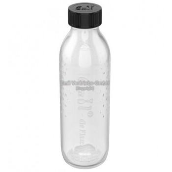 Grande bouteille en verre et large goulot, 0.75 litre