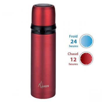 Bouteille isotherme Haute performance Rouge 500ml Laken