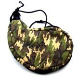 Gourde  camouflage souple en peau, courbée, intérieur latex 1.5 litre