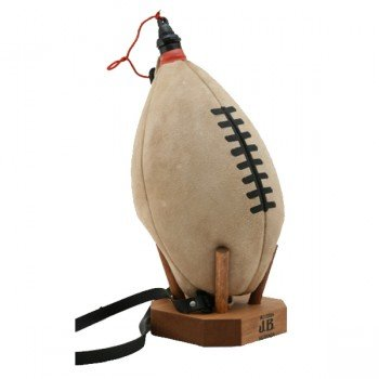 Gourde cuir Ballon de Rugby à la régalade, 4 litres