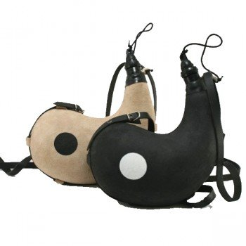 Gourdes Yin et Yang pour couple ou usage double, en cuir