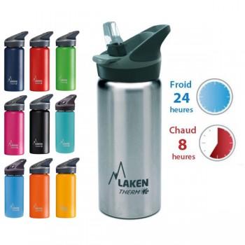 Gourde inox isotherme 0.5l bouchon poussoir de Laken