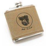 Flasque Inox Sanglier avec cuir, 180ml