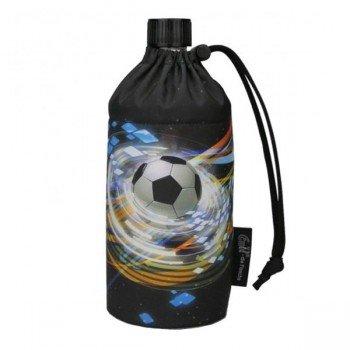 Gourde en verre isotherme Football 0.6 litre