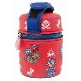 Lunch Box inox isotherme et housse protection rouge pirates, 0,5L