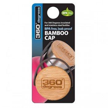 Bouchon bambou et inox, compatible avec gourdes 360°