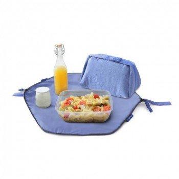 Sac repas et set de table réutilisable et lavable pour emporter le repas