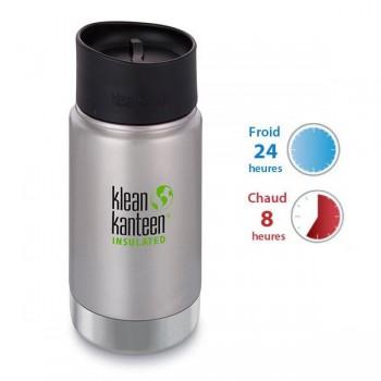 Gourde isotherme inox Klean Kanteen 0,35L, Bouchon Mug pour siroter
