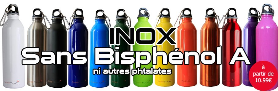 Gourde Inox Sans Bisphenol A