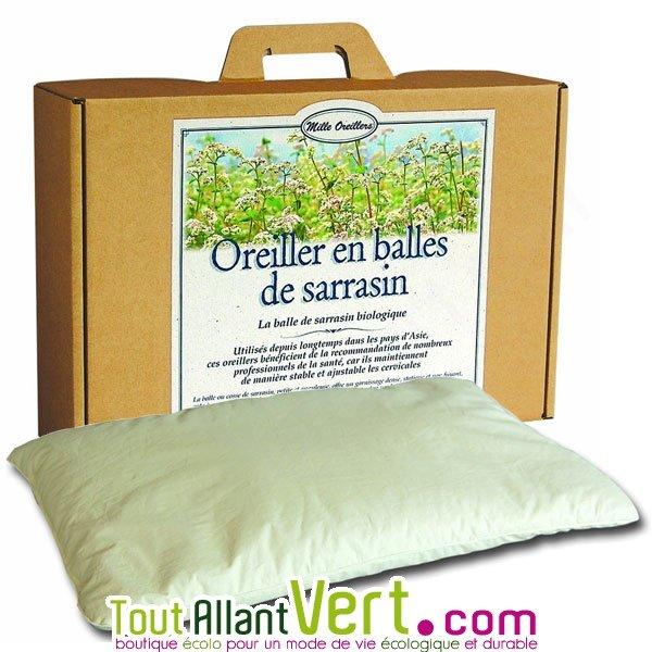 Milles oreillers   Oreiller en balle de sarrasin naturel et biologique