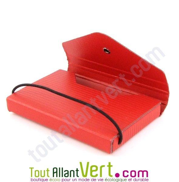 Etui Porte Carte De Visite Rouge Carton Recycle