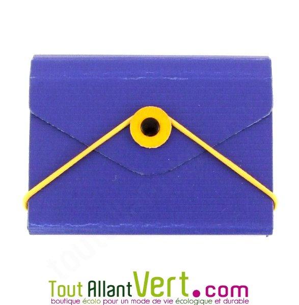 Etui Porte Carte De Visite Bleu Carton Recycle Achat Vente Ecologique