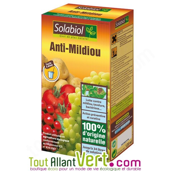 solabiol anti mildiou naturel 120ml diluer 34 litres de traitement. Black Bedroom Furniture Sets. Home Design Ideas