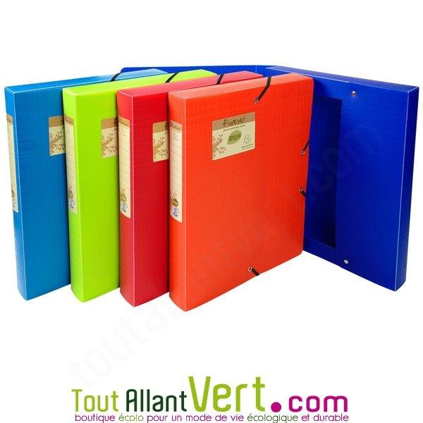 boite de classement plastique recyclé pour papier et document exacompta
