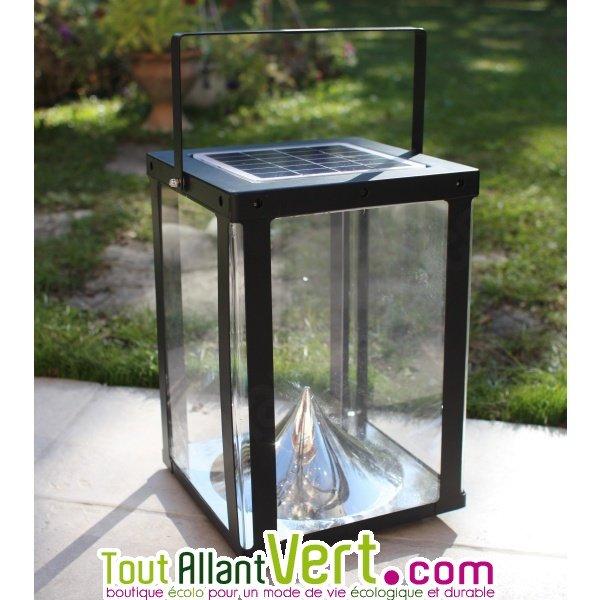 photophore d clairage solaire pour jardin ou terrasse watt home. Black Bedroom Furniture Sets. Home Design Ideas