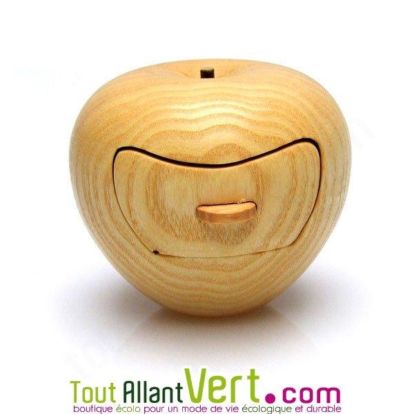 boite bijoux forme pomme en bois de cerisier fabrication. Black Bedroom Furniture Sets. Home Design Ideas