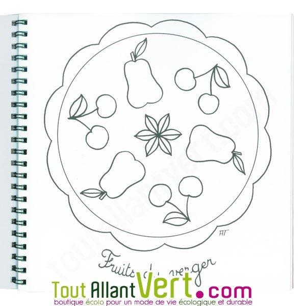 Coloriage mandala pour les petits 4 ans et sur papier recycl achat vente cologique - Coloriage petit mandala ...
