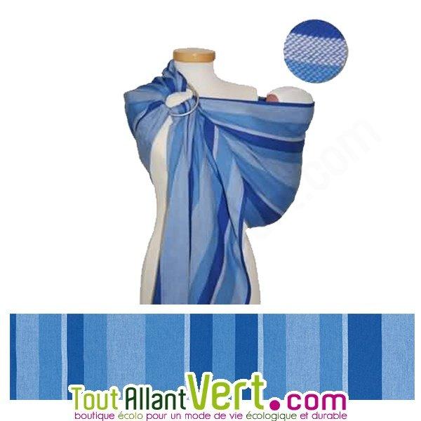 Echarpe de portage avec anneau Ring Sling en coton bio Bleu rayé achat  vente écologique - Acheter sur ToutAllantVert.com 89d0a3c8763