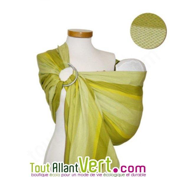 Echarpe de portage bio Ring Sling Vert rayé de Storchenwiege achat vente  écologique - Acheter sur ToutAllantVert.com baf72b8bf7c