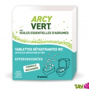 Tablettes détartrantes WC, anti-tartre senteur Orange 10x25g