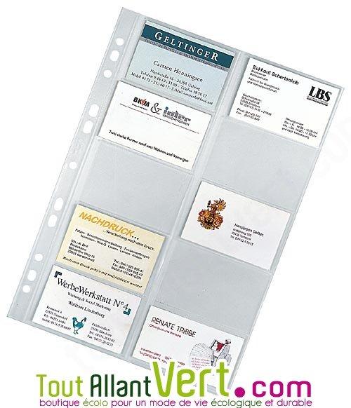 Pochettes Carte De Visite X 10 A4 21x297cm