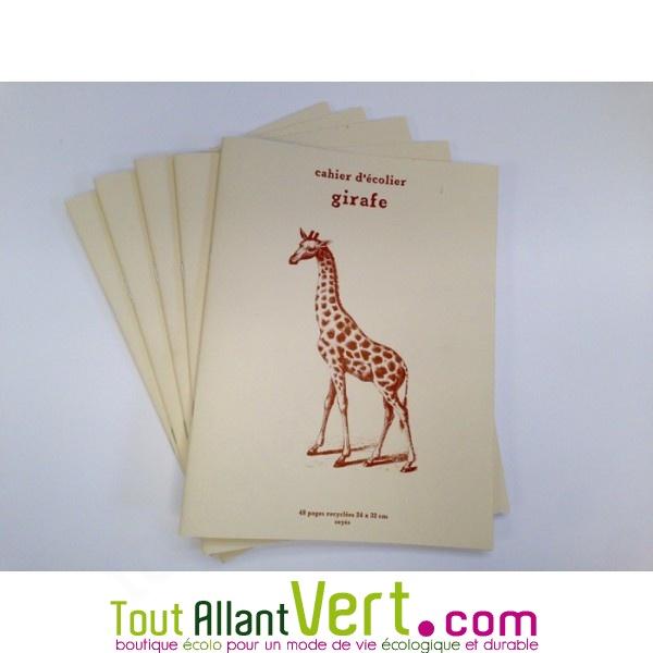 Cahier écolier 24x32cm 48p Recyclé Grands Carreaux Girafe Achat Vente écologique Acheter Sur Toutallantvertcom