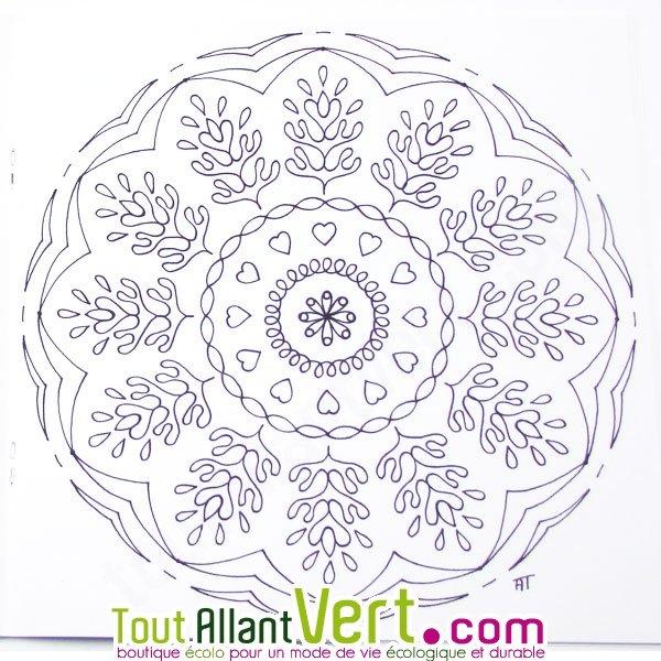 Mandala Detente Pour Adultes Coloriage En Papier Recycle Achat Vente Ecologique Acheter Sur Toutallantvert Com