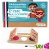 Kit maquillage bio enfant 3 couleurs, Pirate et Coccinelle