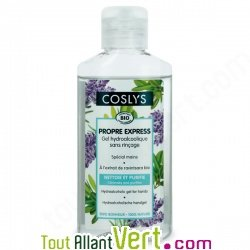 Gel mains désinfectant, solution hydroalcoolique, Coslys 100ml