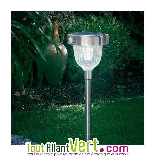 Lampe solaire de jardin design avec détecteur de mouvements LED ...