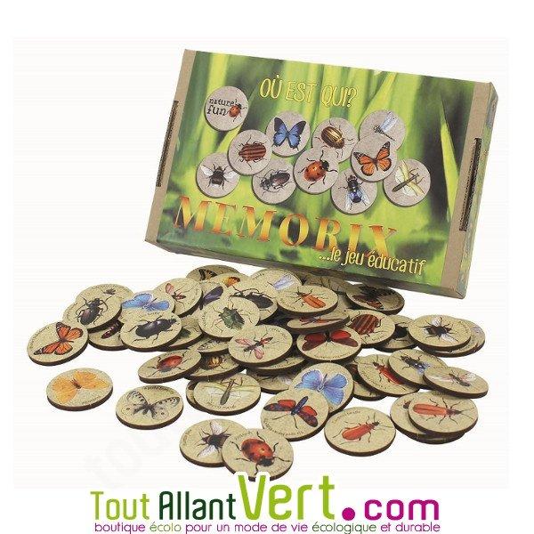 Jeu Educatif Memoire Memorix Sur Les Insectes 4 Ans 2 8 Joueurs Achat Vente Ecologique Acheter Sur Toutallantvert Com