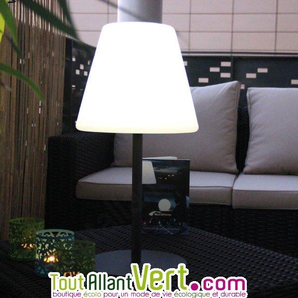 Lampe solaire à éclairage puissant pour table ou terrasse, 50 cm
