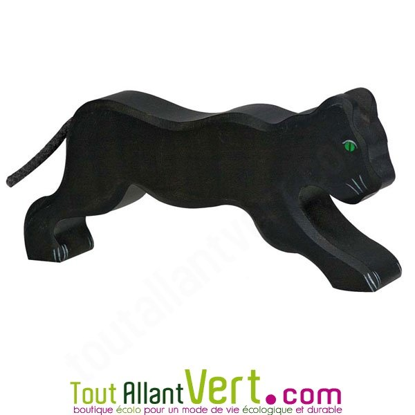 Panthere Noire En Bois Debout 7 Cm Achat Vente Ecologique