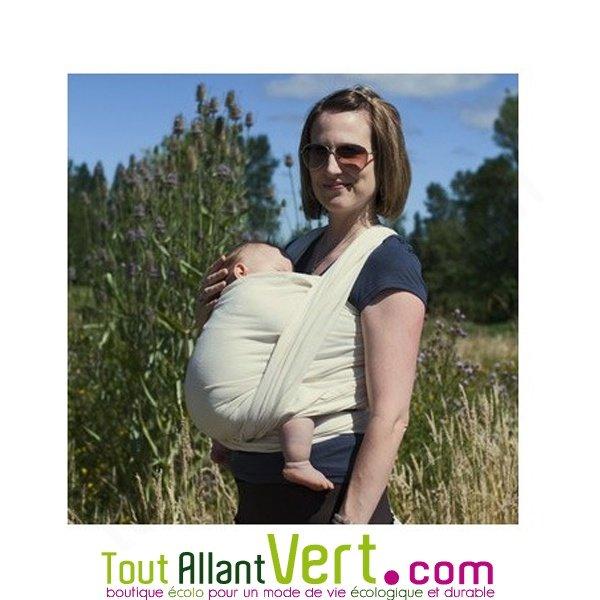 Echarpe de portage écrue en coton biologique porte-bébés colimacon cie 868f18d58c5