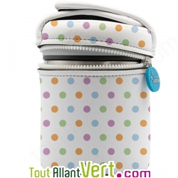 Lunch-box isotherme et sa housse neoprene à pois, 1 litre