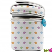 Lunch-box inox isotherme et housse neoprene étoiles, 1 litre